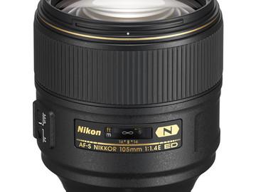 Rent: Nikon AF-S Nikkor 105MM f1.4