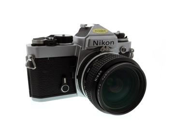 Rent: Nikon FE 35mm Film SLR + Nikon 28mm f/2.8 AI Prime Lens