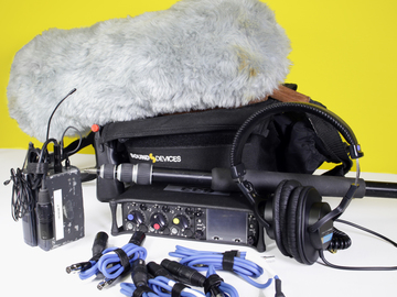 Rent: Sound Devices 633 Mixer with Mic and Boom