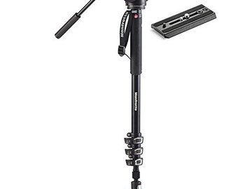 Rent: Manfrotto Xpro Aluminum Video Monopod with Fluid Head