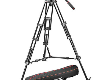 Rent: Manfrotto MVH502A and 546BK-1 Fluid Head Tripod