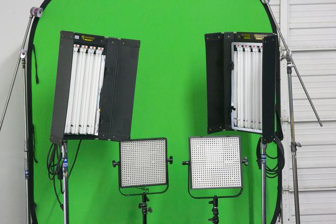 6'x7' Greenscreen / lighting package