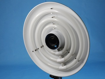 """Rent: Interfit Fluorescent 18"""" Ring Light 3 w/ diffuser, stand (A)"""