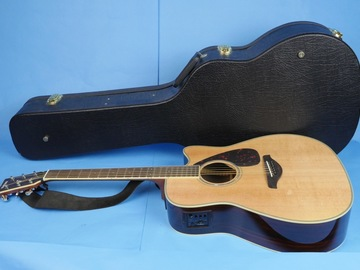 Rent: Yamaha FGX730SC Acoustic Electric Guitar w/ case, stand