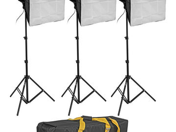 Rent: Impact 3-Light Kit with Stands, Softboxes, Chroma Key, etc.