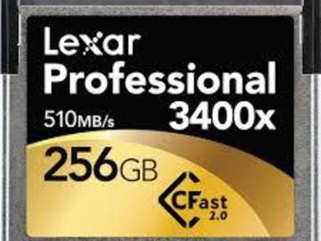 Rent: Lexar Cfast 3400x 256GB