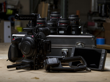 C100 Mark II, Cage, Cine DS Lens Kit, SmallHD  & Extras