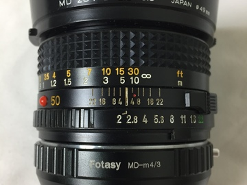 Rent: Minolta MD 50mm 1:2 Lens with MFT Mount (for GH4-GH5, etc.)
