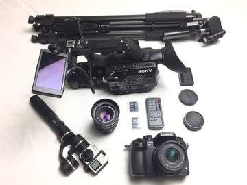 Rent: SONY PXW-FS5 SUPER 35 CAMERA + GH4 + GIMBAL CINEMA PACKAGE