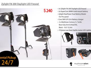 Rent: Zylight F8-200 Daylight LED Fresnel Compact Kit