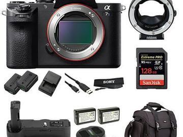 Sony a7S II Kit (EF mount, batteries, 128 GB card)