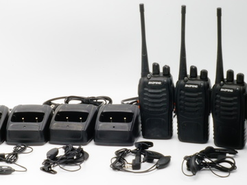 Rent: 4 Walkie Talkies with Headsets