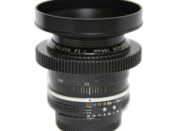 Rent: Nikon cine-mod  AI-S 135mm f2.8 (EF mount)