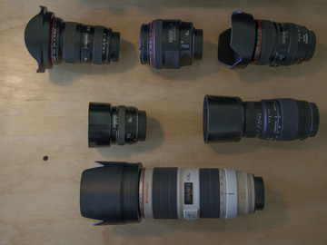Canon EF 6 LENS kit 16-35, 50, 85, 24-105, 70-200 and 70-300
