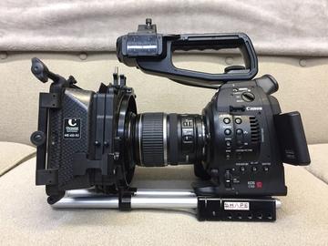 Rent: Canon EOS C100 Kit w/ProRes, rails, mattebox, extended bat