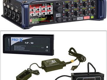 Rent: Zoom F8 Multi-Track Field Recorder w/ 4 Sennheiser Lavs