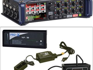 Zoom F8 Multi-Track Field Recorder w/ 4 Sennheiser Lavs