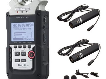 Zoom H4n Pro 4-Ch Handy Recorder+MXL FR-355K Lavalier Mics