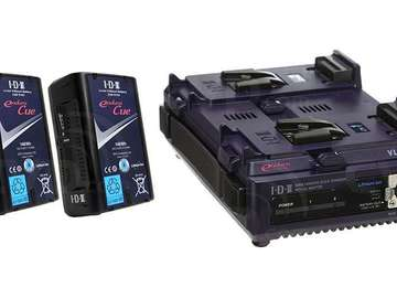 Rent: 4 - V-Mount IDX Batteries with Charger