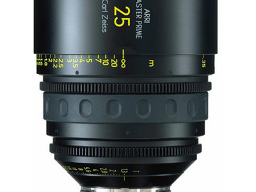 Rent: 25mm Arri/Zeiss Master Prime T1.3 (114mm-D)