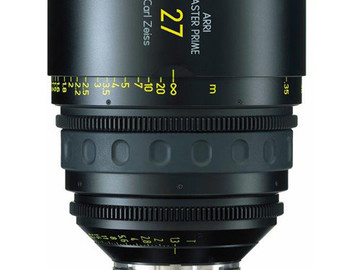 Rent: 27mm Arri/Zeiss Master Prime T1.3 (114mm-D)