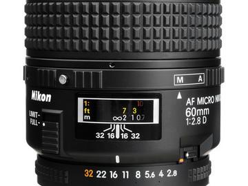 Rent: Nikon AF Micro-NIKKOR 60mm f/2.8D Lens