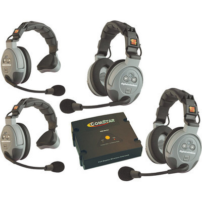 Eartec COMSTAR XT 4-User Full Duplex Wireless Intercom Set