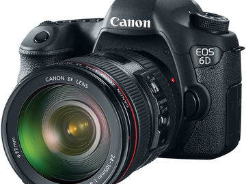 Canon EOS 6D w/ 24-105mm Lens, 50mm, 14mm, Rode Mic
