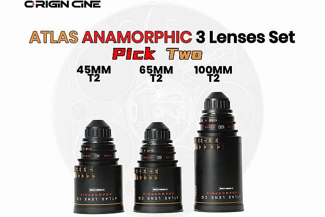 (20% Off)  Atlas Anamorphic Lens Set(40MM/65MM/100MM)Pick 2