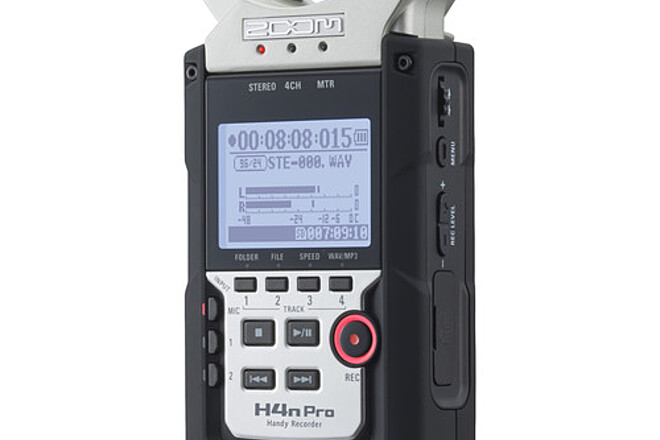 Zoom H4n Pro 4-Input / 4-Track Portable Handy Recorder with