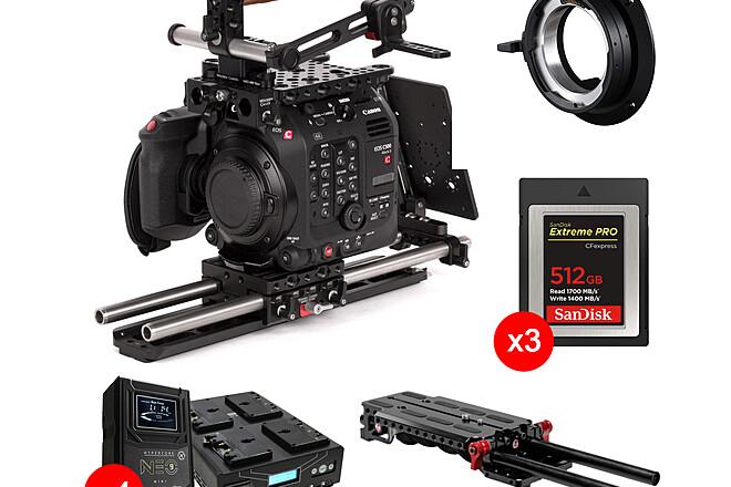 Canon C500 MK II (EF/PL, 3x 512GB, 4x Batts + Chgr, Pro Rig)