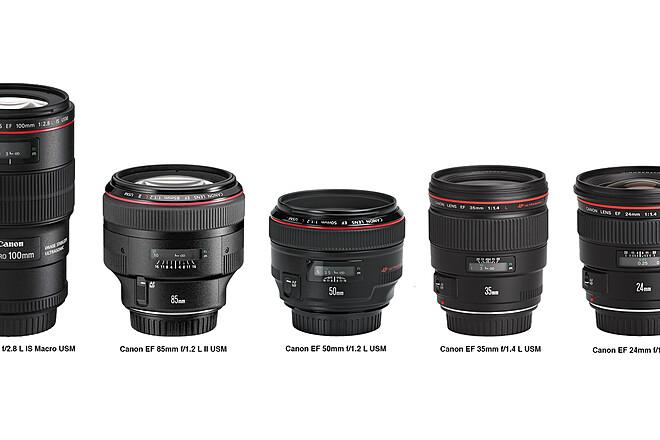 4x Canon EF L Series Prime Lens Set 85, 50, 35, 24 + Tokina