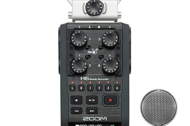 Zoom H6 6-Input / 6-Track Portable Handy Recorder with Inter
