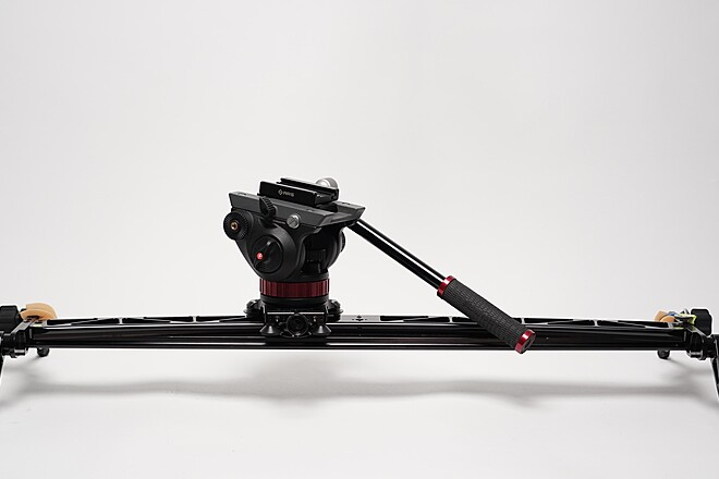 "36"" CURVED + Straight Interview Slider + Tripods + Wheels"