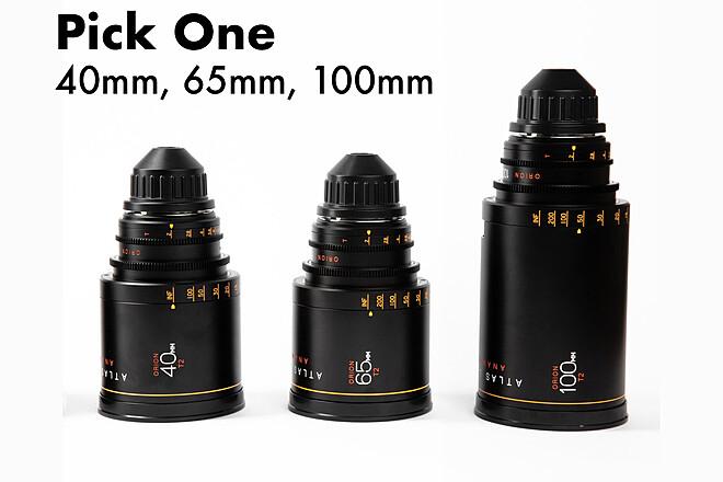 PICK ONE - Atlas Lens Co. Orion A-Set 40mm, 65mm, 100mm