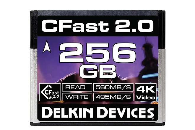 Delkin Devices  Cfast 2.0 256GB media card