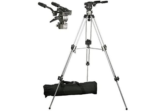 75mm Video Camera Tripod with Fluid Drag Head