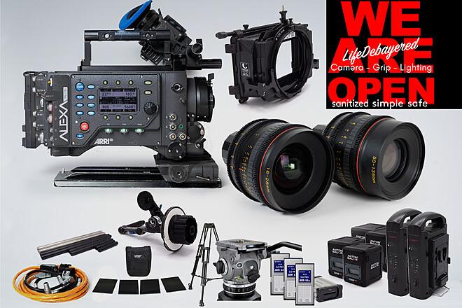 ARRI Alexa PLUS w/16-28 & 50-135 T3 Tokina Zoom complete kit