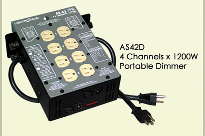 Lightronics AS42D 4-channel dimmer/relay DMX controlled