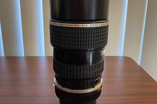Pentax-FA 645 80-160mm f4.5 + KIPON 645 to E Mount Adapter