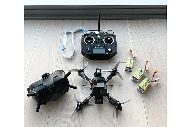 FPV Racing Drone with GoPro camera with FAA Pilot