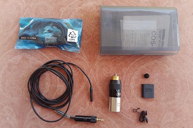 Sanken COS11-D Lavalier Mic W/XLR Adapter & Backup Sony Mic