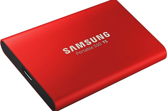 Samsung T5 SSD 1TB Red