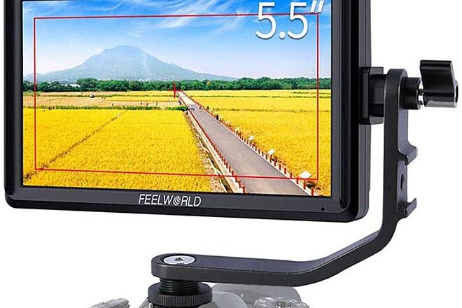 FEELWORLD S55 5.5 inch Camera DSLR Field Video Monitor HD 12