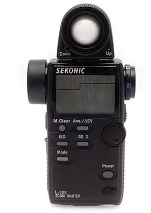 SEKONIC L-508 ZOOM MASTER EXTERNAL LIGHT METER