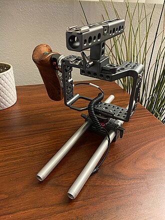 Tilta A7 Series Rig with Wooden Handle & Start/Stop Cable