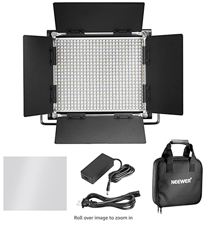 2x Neweer 660 Bi- Color LED With Stands