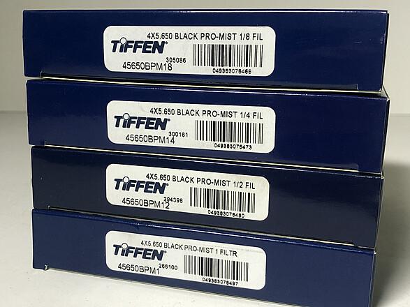 Tiffen 4x5.65 Black Promist (+1/8, 1/4, 1/2, 1)