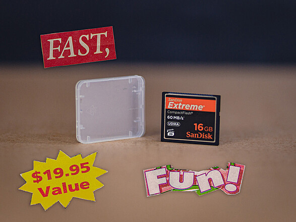 SanDisk 16GB UDMA Extreme Pro CompactFlash Memory Card (60MB