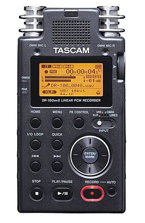Tascam DR-100mkII Linear Recorder + Memory Card + XLR Cable